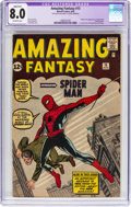 Silver Age (1956-1969):Superhero, Amazing Fantasy #15 Trimmed (Marvel, 1962) CGC Apparent VF 8.0Off-white pages....