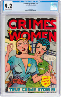 Crimes by Women #11 (Fox Features Syndicate, 1950) CGC NM- 9.2 Off-white to white pages