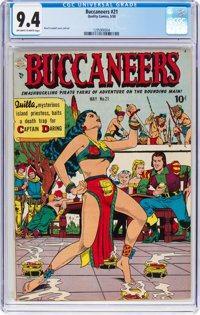 Buccaneers #21 (Quality, 1950) CGC NM 9.4 Off-white to white pages