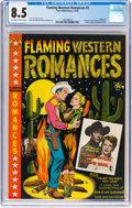 Golden Age (1938-1955):Western, Flaming Western Romances #3 (Star Publications, 1950) CGC VF+ 8.5 Off-white to white pages....
