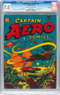 Golden Age (1938-1955):Science Fiction, Captain Aero Comics #26 Big Apple Pedigree (Holyoke Publications, 1946) CGC VF- 7.5 Off-white to white pages....