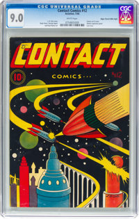 Contact Comics #12 Mile High Pedigree (Aviation Press, 1946) CGC VF/NM 9.0 White pages