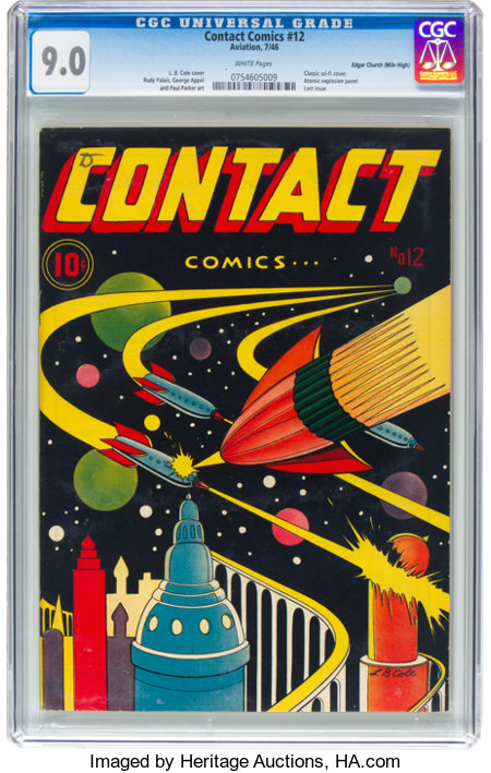 Contact Comics #12 Mile High Pedigree (Aviation Press, 1946) CGC VF/NM 9.0 White pages....