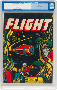 Captain Flight Comics #11 Big Apple Pedigree (Four Star, 1947) CGC NM- 9.2 White pages