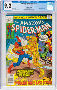 The Amazing Spider-Man #173 35-Cent Price Variant (Marvel, 1977) CGC NM- 9.2 White pages