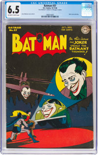 Batman #37 (DC, 1946) CGC FN+ 6.5 Off-white to white pages