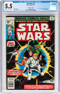 Star Wars #1 35-Cent Price Variant (Marvel, 1977) CGC FN- 5.5 Off-white to white pages