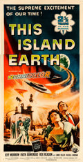 "Movie Posters:Science Fiction, This Island Earth (Universal International, 1955). Three Sheet (41"" X 78"") Reynold Brown Artwork.. ..."