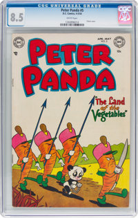 Peter Panda #5 (DC, 1954) CGC VF+ 8.5 White pages