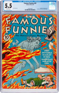 Golden Age (1938-1955):Humor, Famous Funnies #81 (Eastern Color, 1941) CGC FN- 5.5 Off-white pages....