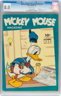 Golden Age (1938-1955):Cartoon Character, Mickey Mouse Magazine V5#12 File Copy (Dell, 1940) CGC VF 8.0 Off-white pages....