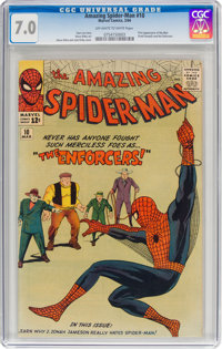 The Amazing Spider-Man #10 (Marvel, 1964) CGC FN/VF 7.0 Off-white to white pages