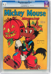 Mickey Mouse Magazine V3#2 (K. K. Publications/Western Publishing Co., 1937) CGC NM- 9.2 Cream to off-white pages