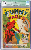 Golden Age (1938-1955):Superhero, Funny Pages V4#1 Cover Married (Comics Magazine Co./ Centaur Publications, 1940) CGC Qualified FR/GD 1.5 Off-white pages....