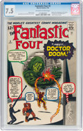 Silver Age (1956-1969):Superhero, Fantastic Four #5 (Marvel, 1962) CGC VF- 7.5 Off-white to white pages....