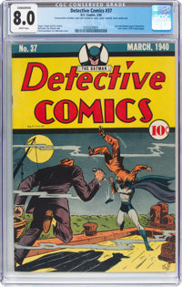 Detective Comics #37 (DC, 1940) CGC Conserved VF 8.0 White pages