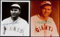Autographs:Photos, Freddie Lindstrom Signed Photograph Lot of 2.. ... (Total: 2 items)