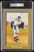 Autographs:Post Cards, 1987 Sandy Koufax Signed Perez-Steele Great Moments #16, PSA/DNA NM 7....