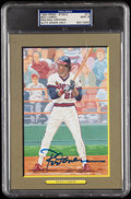 Autographs:Post Cards, 1993 Rod Carew Signed Perez-Steele Great Moments #77, PSA/DNA MT 9....
