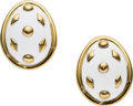 Estate Jewelry:Earrings, Enamel, Gold Earrings, Schlumberger for Tiffany & Co.. ...