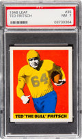 Football Cards:Singles (Pre-1950), 1948 Leaf Ted Fritsch #35 PSA NM 7....