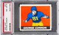 Football Cards:Singles (Pre-1950), 1948 Leaf George Connor (Bright Yellow Pants) #37 PSA NM-MT 8 -Only One Higher....