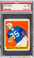 Football Cards:Singles (Pre-1950), 1948 Leaf Bill Dudley #36 PSA NM-MT 8 - Only Two Higher....