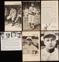 Autographs:Index Cards, Baseball Greats and Hall of Famers Signed Image Lot of 58....