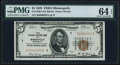 Fr. 1850-I $5 1929 Federal Reserve Bank Note. PMG Choice Uncirculated 64 EPQ