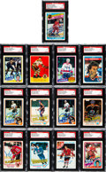Autographs:Sports Cards, Signed 1950's - 1980's Topps & O-Pee-Chee Hockey CardCollection (13) - All Rookie Cards. ...