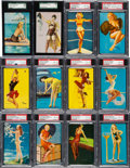 Non-Sport Cards:Lots, 1940's -1950's Mutoscope/Exhibits Graded Pin-Up Cards Collection (54). ... (Total: 52 item)