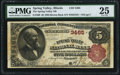 National Bank Notes:Illinois, Spring Valley, IL - $5 1882 Brown Back Fr. 469 The Spring Valley NB Ch. # 3465 PMG Very Fine 25.. ...