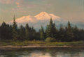 Fine Art - Painting, American, Robert William Wood (American, 1889-1979). Mt. Shasta. Oilon panel. 18 x 26 inches (45.7 x 66.0 cm). Signed lower left:...
