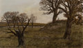 Fine Art - Painting, American, Anthony Martin (American, b. 1941). Spring Pasture. Oil onboard. 21-1/2 x 36 inches (54.6 x 91.4 cm). Signed lower righ...