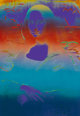 Peter Max (American, b. 1937) Mona Lisa, 1992 Screenprint with hand coloring on canvas 35-1/2 x 26-1/2 inches (90.2 x...