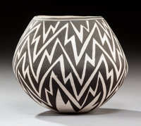 An Acoma Black-On-White Jar Lucy M. Lewis