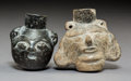 Pre-Columbian:Ceramics, Two Maya (?) Blackware Bottles... (Total: 2 Items)