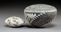 American Indian Art:Pottery, Two Acoma Seed Jars . Sandra Victorino and R. Lucario... (Total: 2Items)