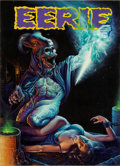 Original Comic Art:Covers, Kirk Reinert Eerie #128 Cover Painting Original Art (Warren,1982)....