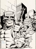 Original Comic Art:Covers, Dave Cockrum and Joe Rubinstein Marvel Premiere #43 CoverPaladin Original Art (Marvel, 1978)....