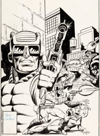 Dave Cockrum and Joe Rubinstein Marvel Premiere #43 Cover Paladin Original Art (Marvel, 1978)