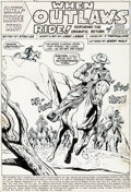 Original Comic Art:Splash Pages, Larry Lieber, John Tartaglione, and Marie Severin RawhideKid #89 Splash Page 1 Original Art (Marvel, 1971)....