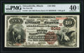 National Bank Notes:Illinois, Edwardsville, IL - $10 1882 Brown Back Fr. 487 The First NB Ch. # (M)5062 PMG Extremely Fine 40 EPQ.. ...