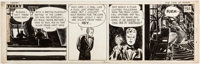 Milton Caniff Terry and the Pirates Daily Comic Strip Original Art dated 12-17-46 Original Art (Chicago Tribune, 1