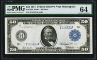 Fr. 1056 $50 1914 Federal Reserve Note PMG Choice Uncirculated 64