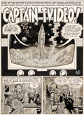 "Original Comic Art:Complete Story, Jack Davis MAD #15 Complete 7-Page Story ""Captain TVideo!""Original Art (EC, 1954).... (Total: 7 Original Art)"