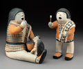 American Indian Art:Pottery, Two Cochiti Polychrome Storytellers Helen Cordero. ... (Total: 2Items)