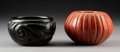 American Indian Art:Pottery, Two Santa Clara Pottery Jars. Helen Shupla and Angela Baca...(Total: 2 Items)