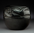 American Indian Art:Pottery, A Santa Clara Carved Blackware Jar . Margaret Tafoya...