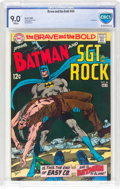 Silver Age (1956-1969):Superhero, The Brave and the Bold #84 Batman and Sgt. Rock (DC, 1969) CBCS VF/NM 9.0 White pages....